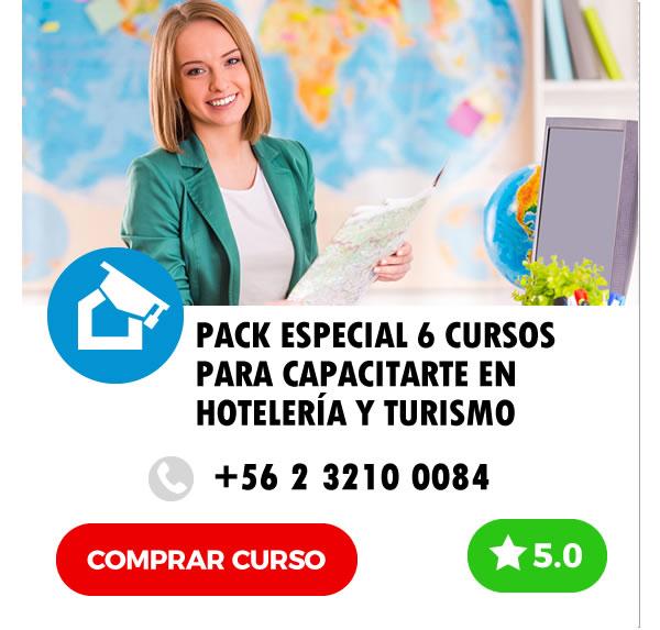 Cusos E-learning Pack Especial 6 Cursos Online para Capacitarte en Hotelería y Turismo